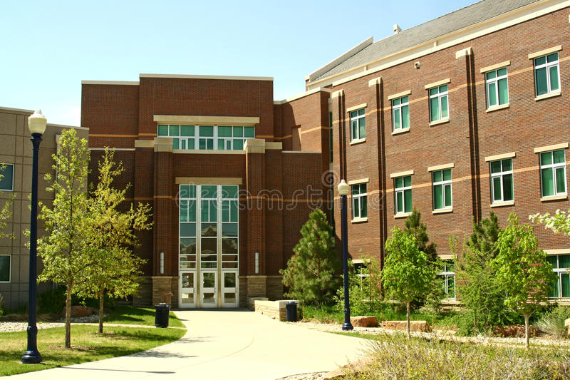 Universiteit van Noordelijk Colorado stock afbeelding