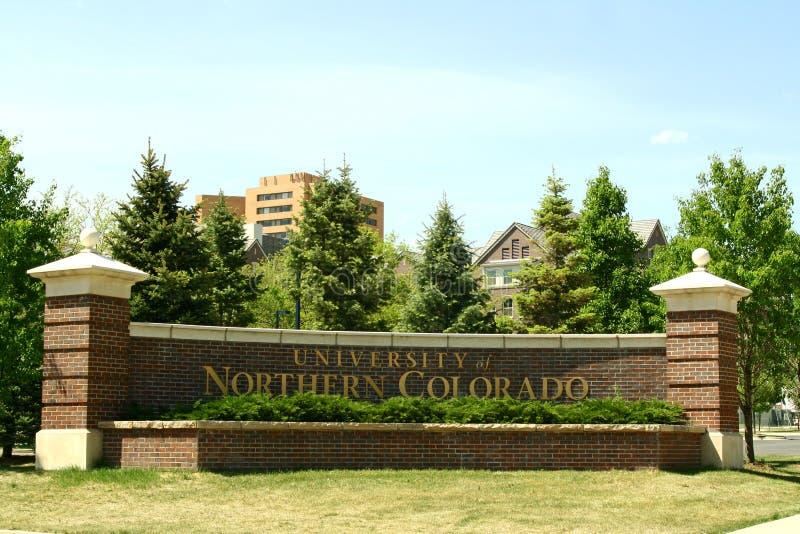Universiteit van Noordelijk Colorado royalty-vrije stock afbeeldingen