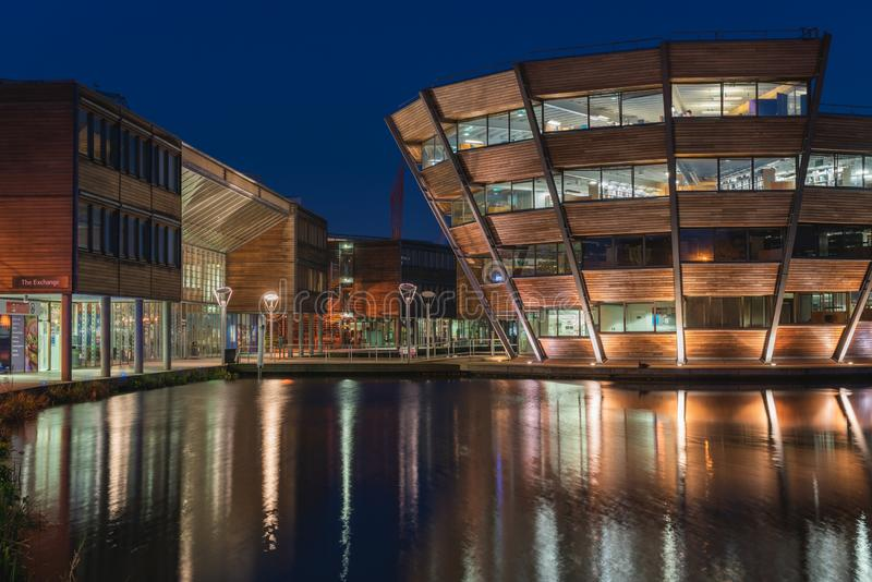 Universiteit van Nottingham stock afbeelding