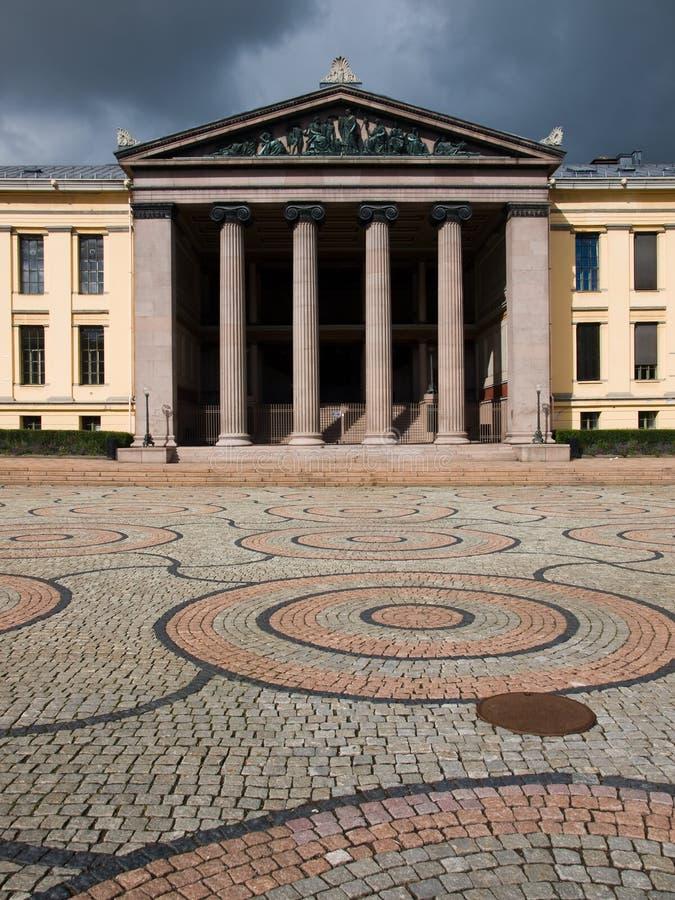 Universiteit van Oslo, Noorwegen royalty-vrije stock foto's