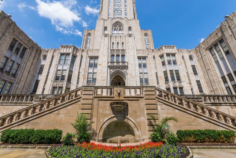Universiteit van Pittsburgh, Pennsylvania in Noord-Oakland royalty-vrije stock afbeelding