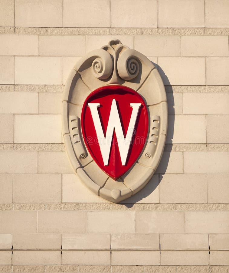 Universiteit van Wisconsin Madison School Crest stock afbeeldingen