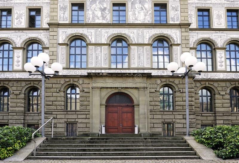 Universiteit van Zürich stock afbeelding