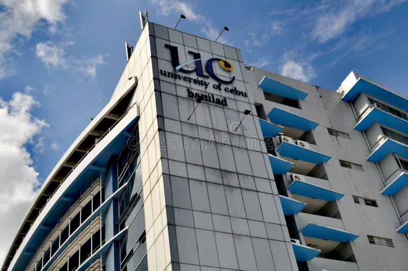 Universitet av den Cebu Banilad universitetsområdet arkivbild