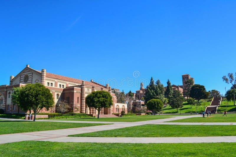 Universitet av den Kalifornien Los Angeles UCLA högskolauniversitetsområdet arkivbilder