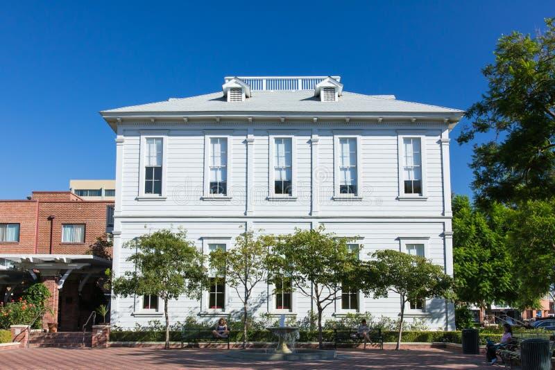 Universitet av det sydliga Kalifornien Widney före detta elevhuset royaltyfri bild