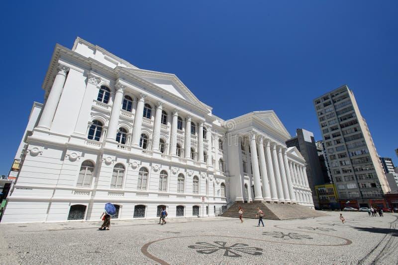 Universitet av federala Parana, Curitiba, Brasilien royaltyfria bilder