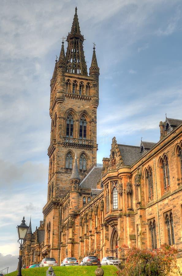 Universitet av Glasgow Main Building - Skottland fotografering för bildbyråer