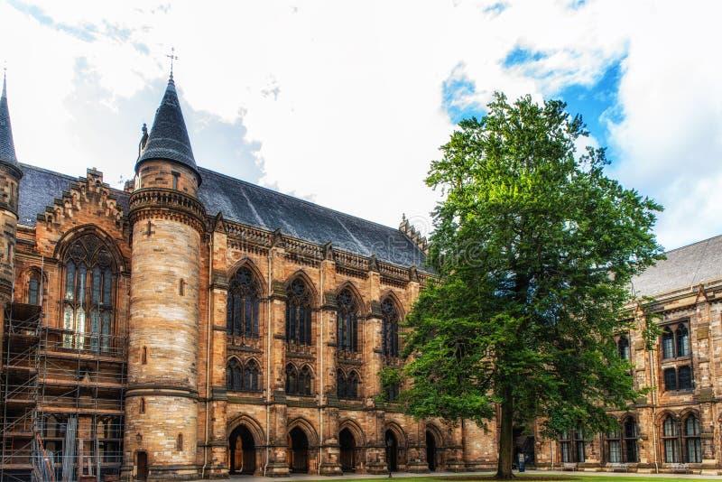 Universitet av Glasgow, Skottland arkivbilder