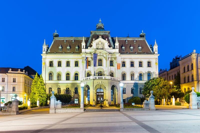 Universitet Av Ljubljana, Slovenien, Europa. Fotografering för Bildbyråer