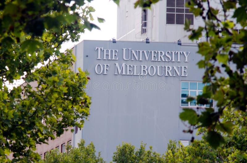Universitet av Melbourne royaltyfria foton