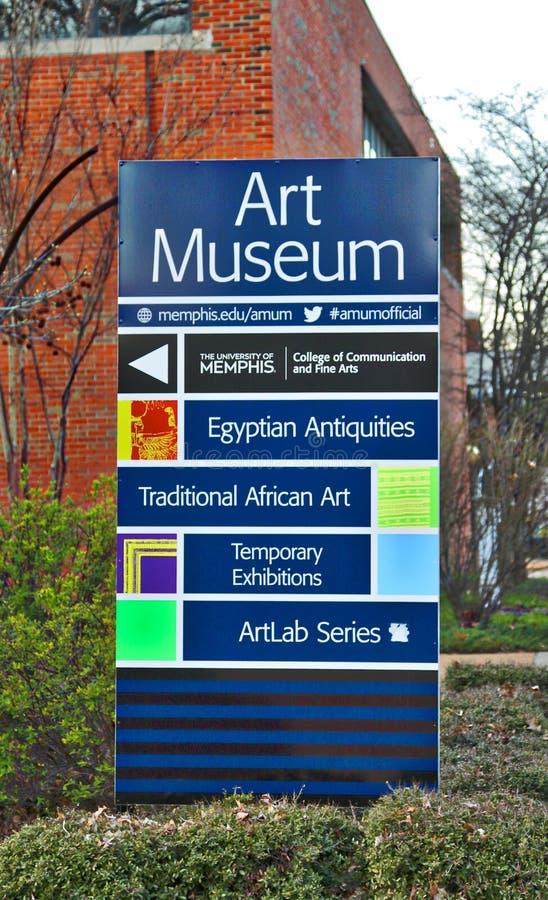 Universitet av Memphis College av Art Banner royaltyfri fotografi
