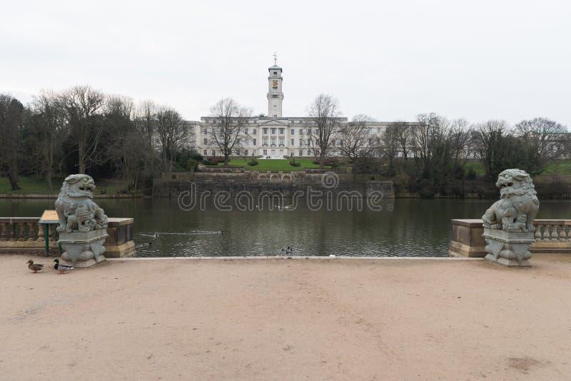 Universitet av Nottingham royaltyfri foto