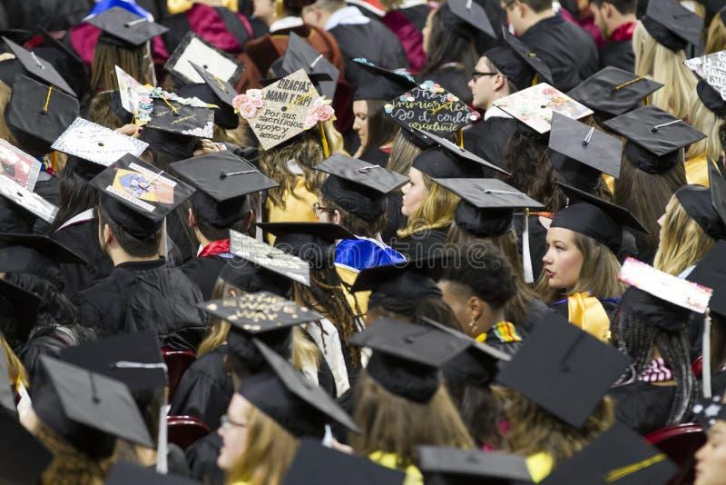 Universitet av Oklahoma Lloyd Noble Center, avslutning royaltyfri bild