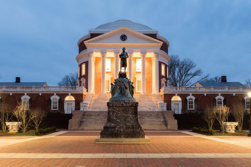 Universitet av Virginia - Charlottesville, Virginia royaltyfri fotografi