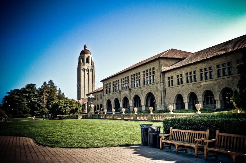 universitetar för klockastanford torn royaltyfri bild