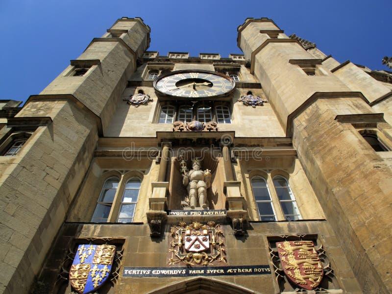 universitetar för trinity för cambridge kapellhögskola royaltyfri bild