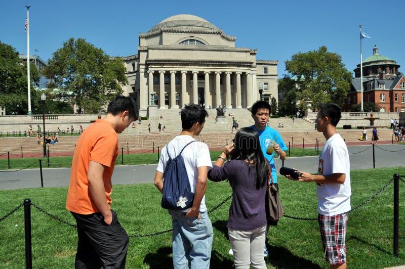 universitetar york för stadscolumbia ny deltagare royaltyfria foton