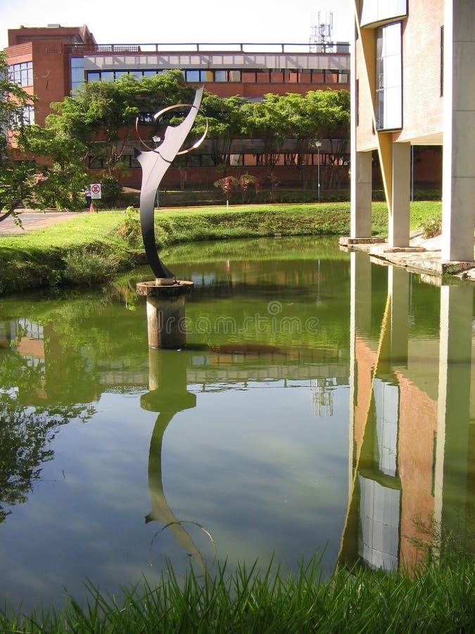 Universitetbyggnad, Puerto Ordaz, Venezuela royaltyfri foto