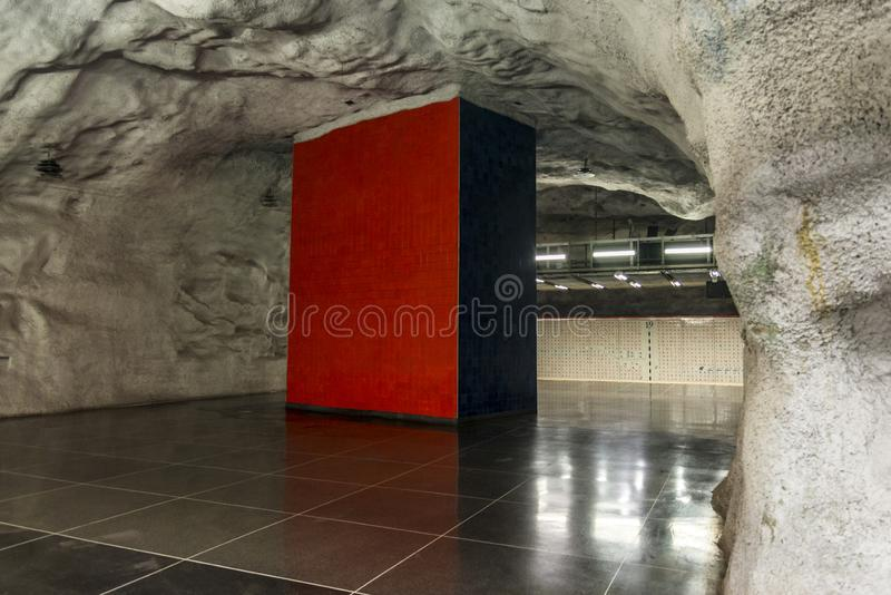 Universitetet-Metrostation, Stockholm, Schweden lizenzfreies stockbild