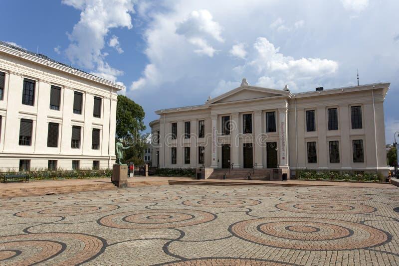 Universitetetsaula (Universiteit van Oslo) in Oslo - Noorwegen stock fotografie