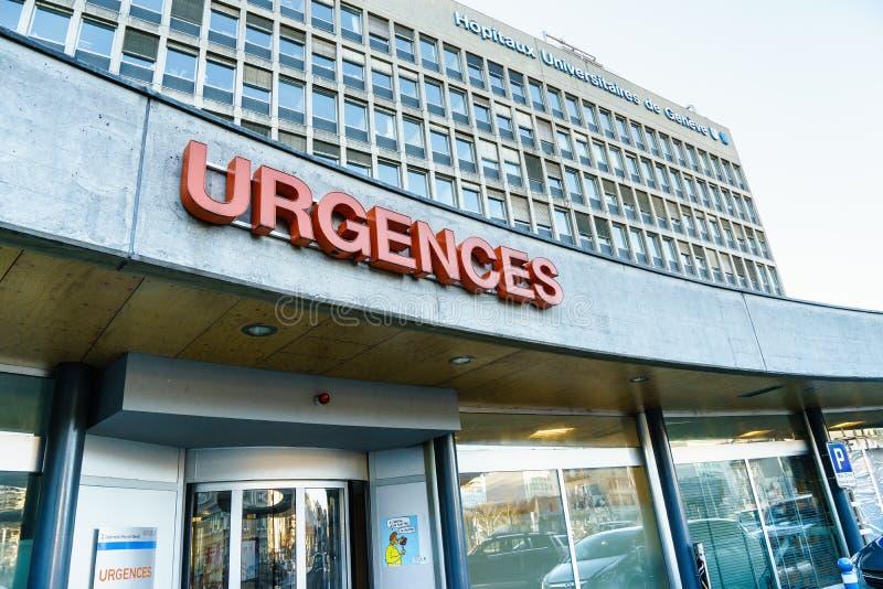 Universitetsjukhus av Genève royaltyfri foto