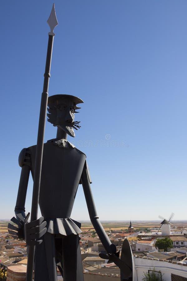 Universitetslärare Quixote i La Mancha - Spanien royaltyfria foton