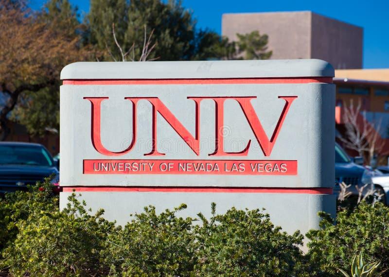 Universitetsområdetecken och logo på universitetet av Nevada royaltyfri foto