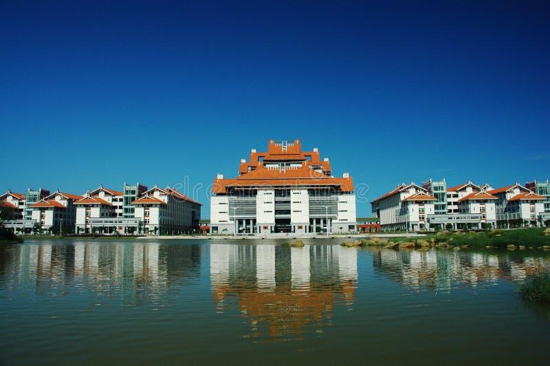 universitetsområdeuniversitetarxiamen zhangzhou royaltyfria bilder
