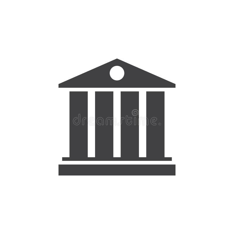 Universitetsymbol symbol fast logoillustration, pictogr stock illustrationer
