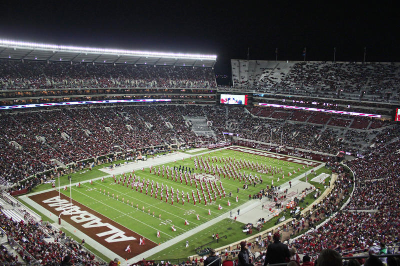 University of Alabama Crimson Tide Game Day stock photography