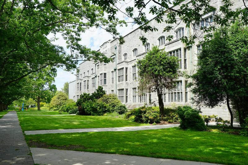 University of British Columbia UBC. VANCOUVER, CA -Located on a beautiful peninsula at Point Grey, the University of British Columbia UBC is a major public stock images