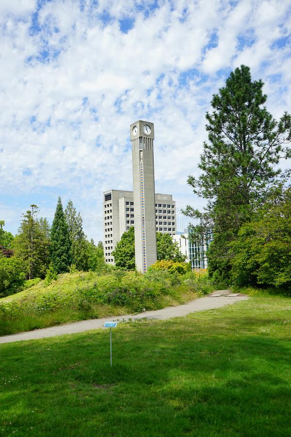 University of British Columbia UBC. VANCOUVER, CA -Located on a beautiful peninsula at Point Grey, the University of British Columbia UBC is a major public royalty free stock photo