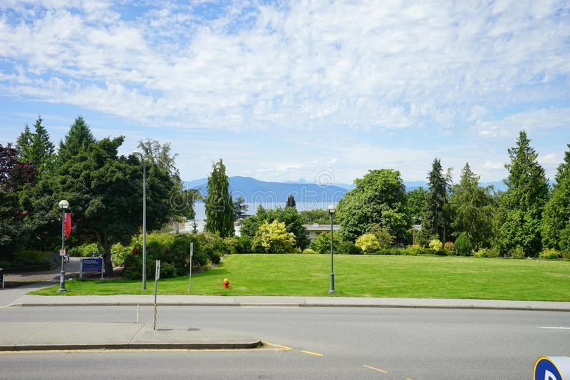 University of British Columbia UBC. VANCOUVER, CA -Located on a beautiful peninsula at Point Grey, the University of British Columbia UBC is a major public stock photo