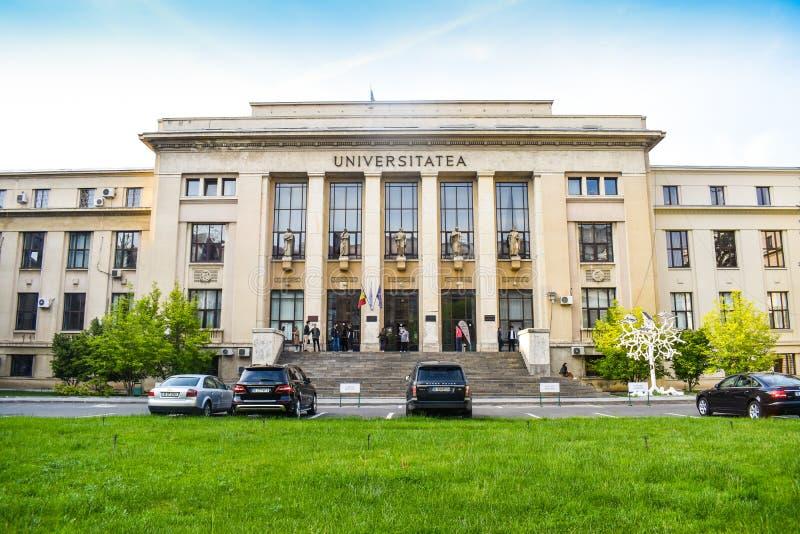 University of Bucharest - Law School building  - Bucharest, Romania - 10.06.2019 royalty free stock photography