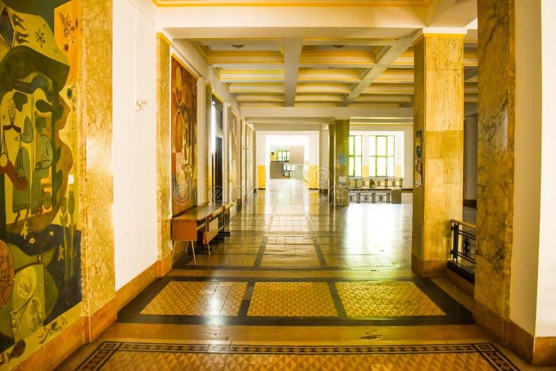 University of Bucharest - Law School building  - Bucharest, Romania - 10.06.2019 royalty free stock photo