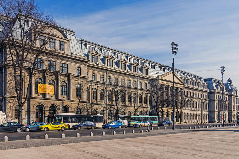 The University of Bucharest. A leading academic centre in Romania, founded by Constantin Brancoveanu, ruler of Wallachia in 1694 as the Academy of Saint Sawa stock image