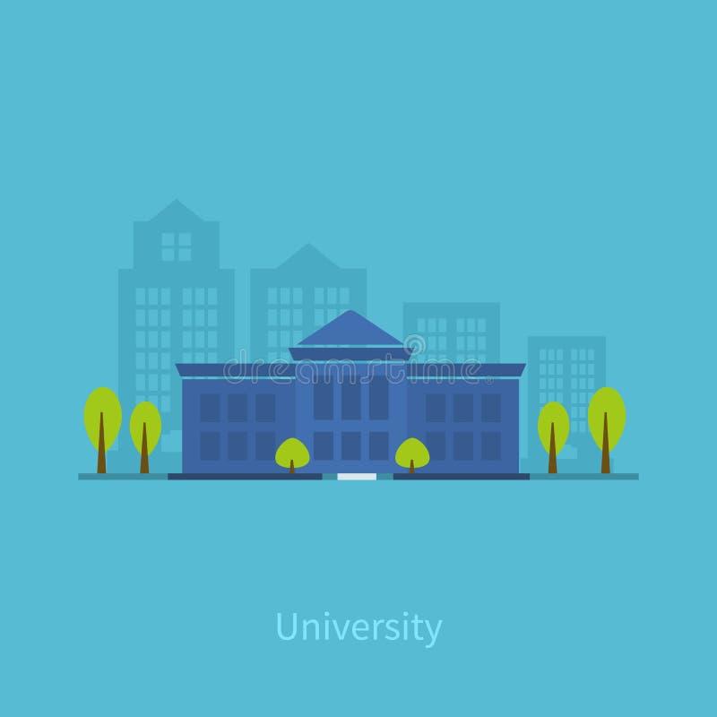 University building icon. School and university building icon. Vector illustration vector illustration