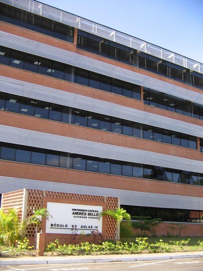 University building, Puerto Ordaz, Venezuela. UCAB University building, Puerto Ordaz, Venezuela.nView of the buildings and facilities of the Venezuelan royalty free stock photography