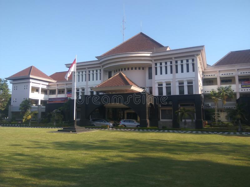 University building of Technology Yogyakarta 27 September 2019 royalty free stock image