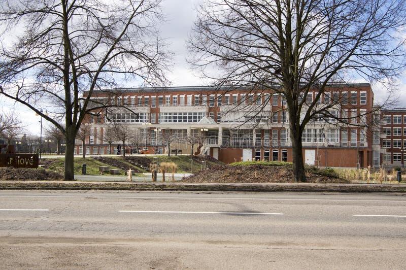 University building, University of Hradec Kralove, Faculty of Education. New modern building stock photo