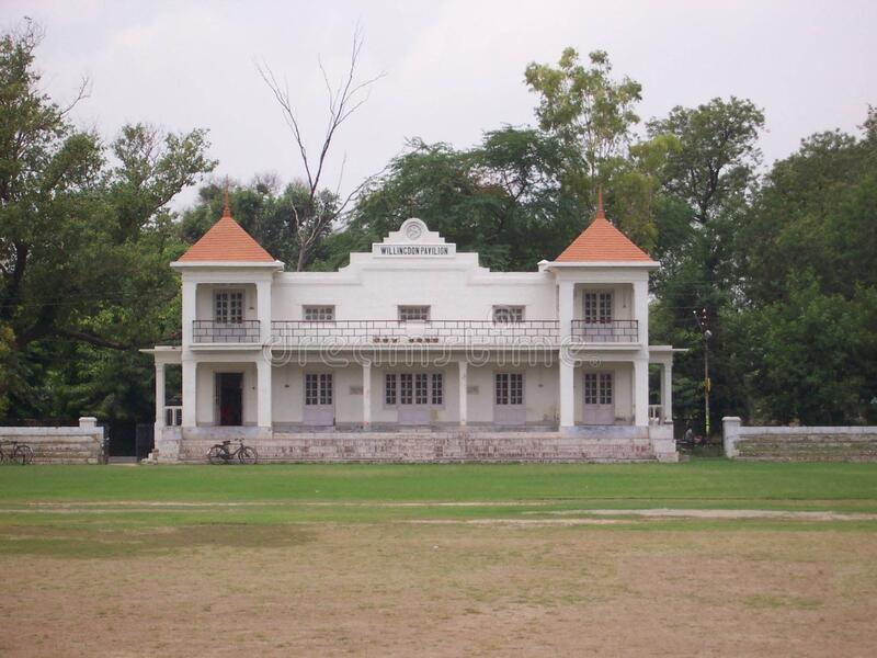 University Campus, Aligarh Muslim University, India. The university was established as the Muhammadan Anglo-Oriental College in 1875 by Sir Syed Ahmad Khan royalty free stock photo