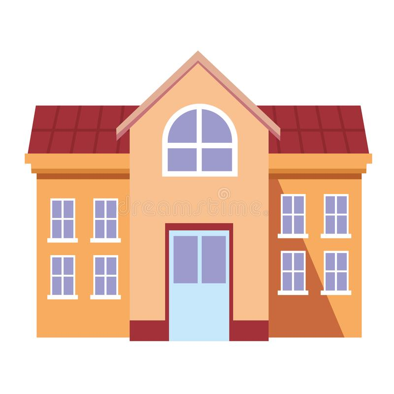 University campus house. Isolated vector illustration graphic design royalty free illustration