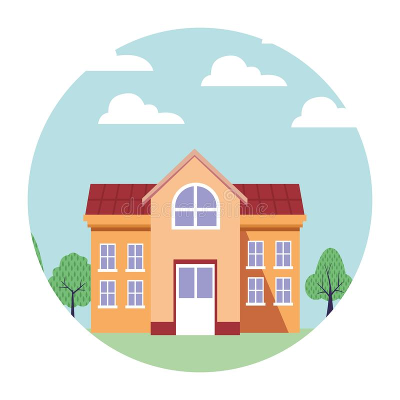 University campus house. Vector illustration graphic design stock illustration