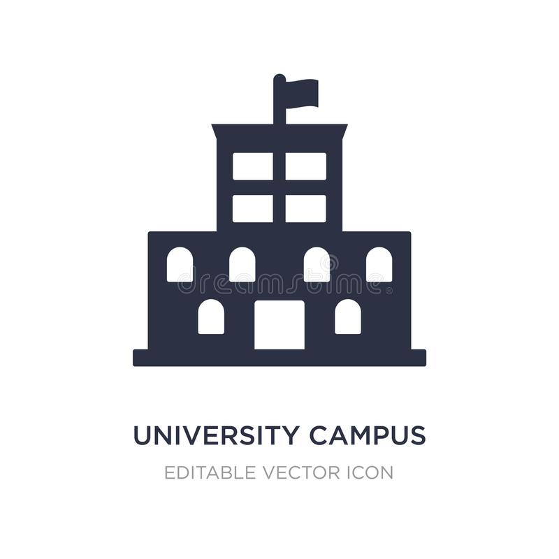 University campus icon on white background. Simple element illustration from Buildings concept stock illustration