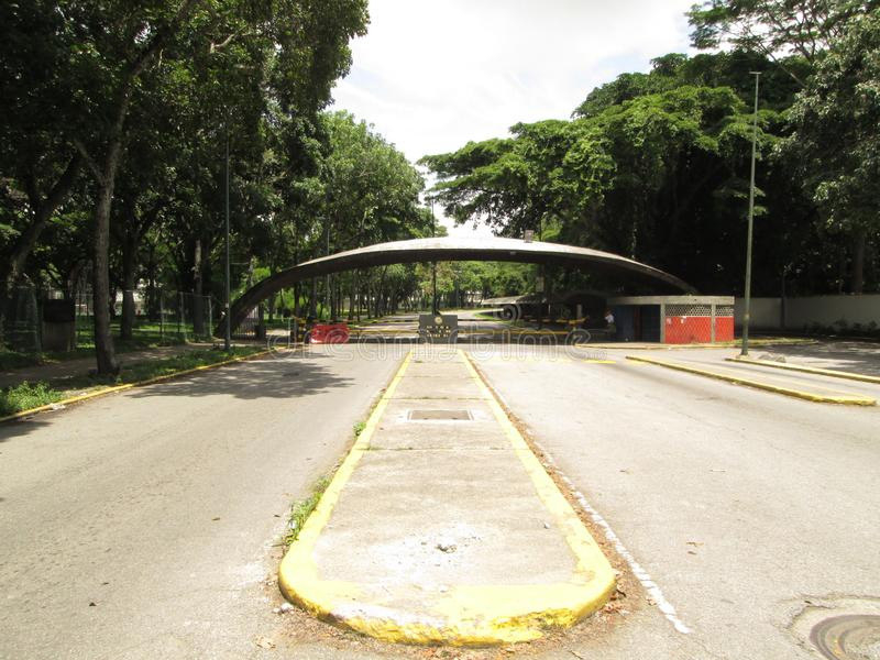 University Central Of Venezuela UCV main gate Caracas Venezuela.  royalty free stock photos