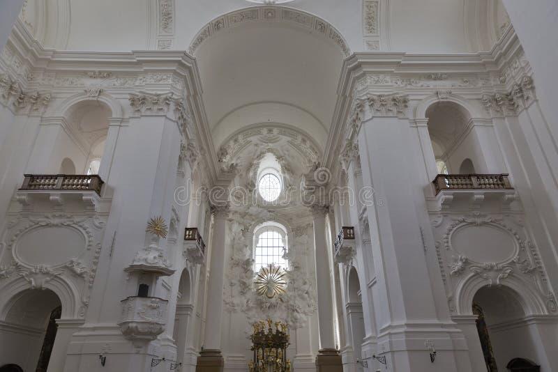 University Church or Kollegienkirche interior in Salzburg. University Church (Kollegienkirche) interior in Salzburg, Austria royalty free stock photography