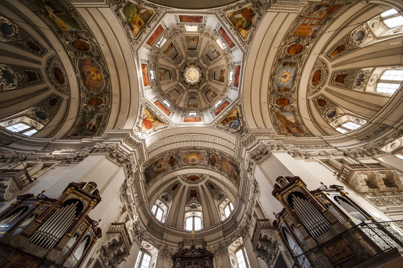 University Church in Salzburg, Austria. University Church (Kollegienkirche) located at Salzburg, Austria royalty free stock photos