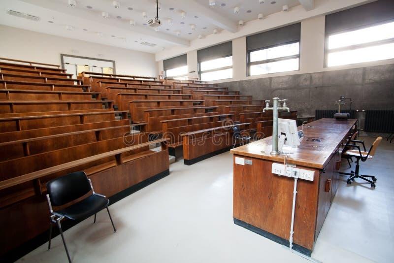 University classroom royalty free stock image