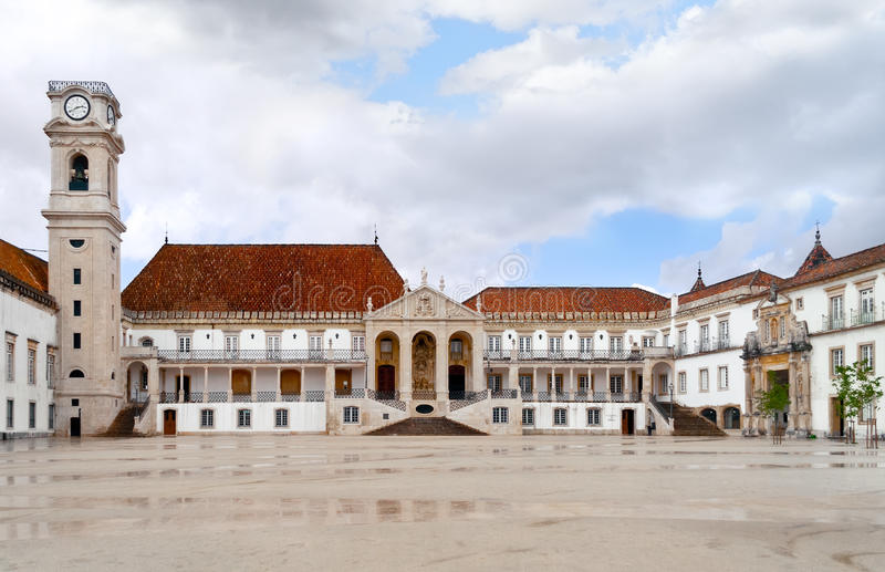 University of Coimbra. The University of Coimbra established in 1290, it is one of the oldest universities in the world, the oldest university of Portugal, and stock photos